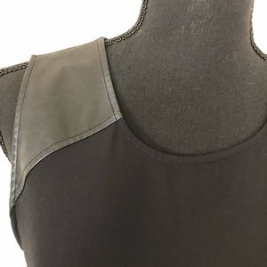 3/15$ New York & Company faux leather top